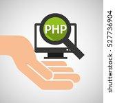 hand optimization technology... | Shutterstock .eps vector #527736904