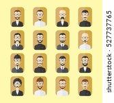 hipster mustache gentleman... | Shutterstock . vector #527737765