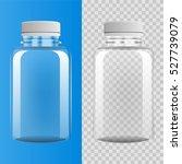 transparent plastic bottle on... | Shutterstock .eps vector #527739079