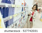 beautiful woman buying body...   Shutterstock . vector #527742031