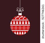 red bauble ornament. vector... | Shutterstock .eps vector #527746261