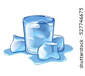 a glass of water with ice cubes ... | Shutterstock .eps vector #527746675