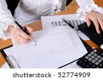 hand of a young business woman...   Shutterstock . vector #52774909