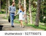beautiful couple taking a walk...   Shutterstock . vector #527750071