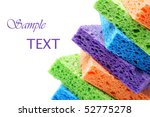 Brightly Colored Sponges On...