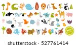 big vector set of animals.  | Shutterstock .eps vector #527761414