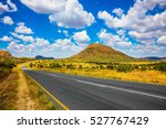 the good asphalt highway in... | Shutterstock . vector #527767429