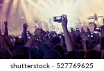 fan taking photo of concert at... | Shutterstock . vector #527769625