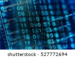 digital binary data on computer ... | Shutterstock . vector #527772694