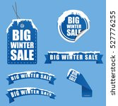 tag winter sale with snow on it ... | Shutterstock .eps vector #527776255