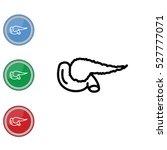 web line icon. pancreas | Shutterstock .eps vector #527777071