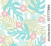 cute hand drawn tropical... | Shutterstock .eps vector #527777884