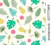 Cartoon Tropical Pattern....