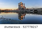industrial plant at dusk in the ... | Shutterstock . vector #527778217