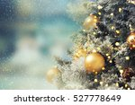 christmas tree. holiday... | Shutterstock . vector #527778649