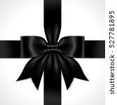 illustration black ribbon bow...   Shutterstock .eps vector #527781895