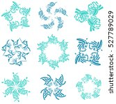 set of modern and floral vector ... | Shutterstock .eps vector #527789029