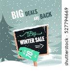 big winter sale banner. winter... | Shutterstock .eps vector #527794669