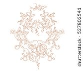 vintage baroque ornament with... | Shutterstock .eps vector #527802541
