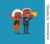 african american people   old... | Shutterstock .eps vector #527804461