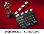 hollywood film awards concept... | Shutterstock . vector #527809891