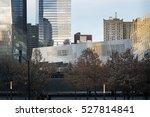 9 11 museum at sunset viewed... | Shutterstock . vector #527814841