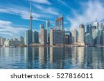 toronto skyline with cn tower... | Shutterstock . vector #527816011