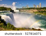 the view of niagara falls and...   Shutterstock . vector #527816071