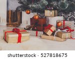 presents and gifts under... | Shutterstock . vector #527818675