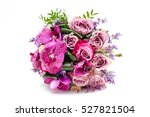 wedding bouquet made of roses... | Shutterstock . vector #527821504