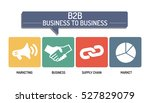business to business   icon set | Shutterstock .eps vector #527829079