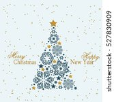 christmas tree from beautiful... | Shutterstock .eps vector #527830909
