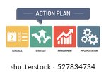 action plan   icon set | Shutterstock .eps vector #527834734