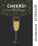 glitter champagne card with... | Shutterstock .eps vector #527835109