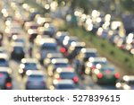 Aerial Blurred Image Of Traffi...