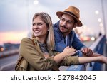 happy couple enjoying romantic... | Shutterstock . vector #527842045