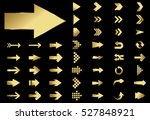 arrow vector gold curve line up ... | Shutterstock .eps vector #527848921