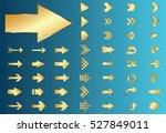 arrow vector gold curve line up ...   Shutterstock .eps vector #527849011