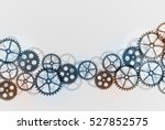 abstract technical gears... | Shutterstock .eps vector #527852575