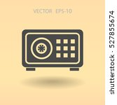flat icon of safe. vector... | Shutterstock .eps vector #527855674