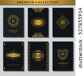 set of gold emblems. collection ... | Shutterstock .eps vector #527855914