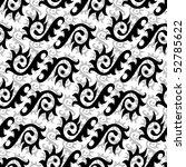 seamless black and white... | Shutterstock . vector #52785622