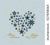 snowflake. heart from gold... | Shutterstock .eps vector #527858065