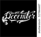 december months lettering vector | Shutterstock .eps vector #527866687