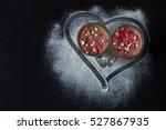 delicious vanilla and chocolate ...   Shutterstock . vector #527867935