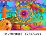 vector illustration of happy... | Shutterstock .eps vector #527871091