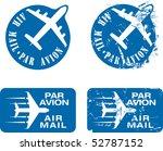 par avion or air mail rubber... | Shutterstock .eps vector #52787152
