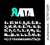 minimalistic bold sans serif... | Shutterstock .eps vector #527871649