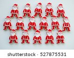 santa claus on a white... | Shutterstock . vector #527875531