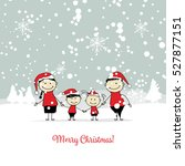 happy family  christmas card... | Shutterstock .eps vector #527877151